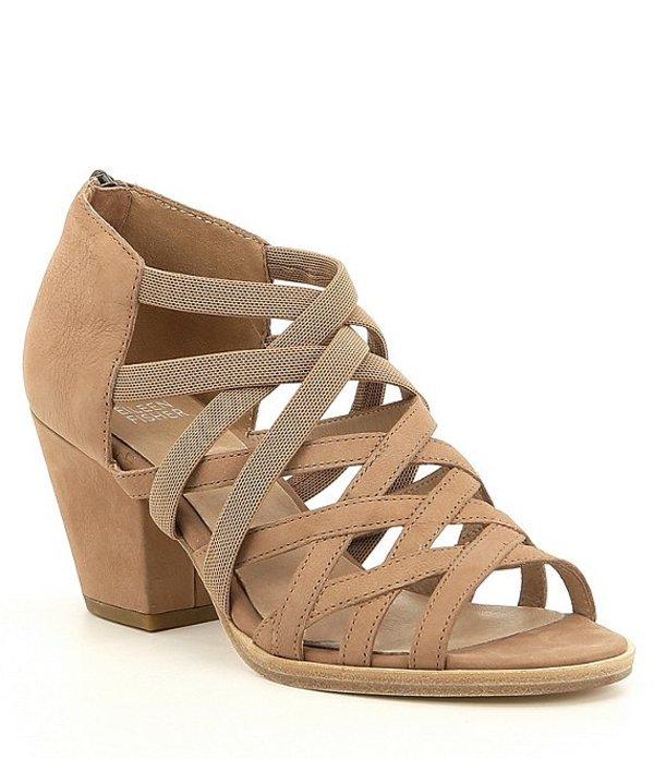 エイリーンフィッシャー レディース サンダル シューズ Fara Nubuck Leather Block Heel Dress Sandals Earth
