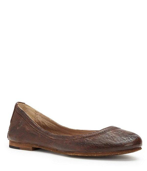 フライ レディース パンプス シューズ Carson Antique Leather Flats Dark Brown