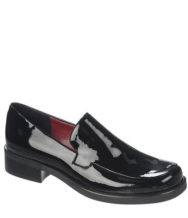 フランコサルト レディース パンプス シューズ Bocca Patent Leather Block Heel Loafers Blackn0wO8Pk