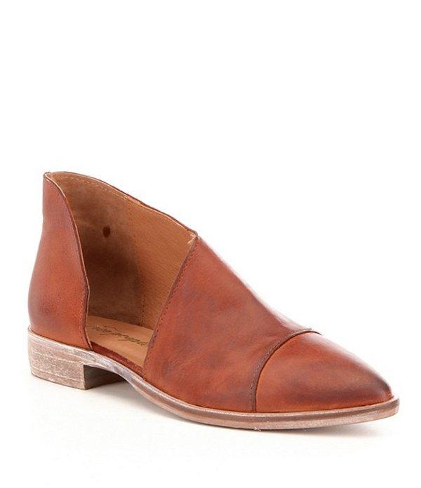 フリーピープル レディース ブーツ・レインブーツ シューズ Royale d'Orsay Leather Slip-On Block Heel Booties Taupe