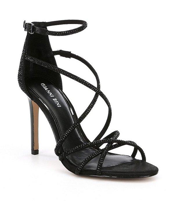 ジャンビニ レディース サンダル シューズ Anselle Jeweled Strappy Dress Sandals Black