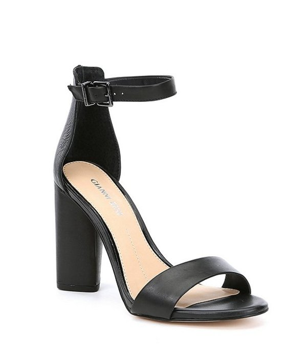 ジャンビニ レディース サンダル シューズ Joenah Two Piece Ankle Strap Block Heel Dress Sandals Black
