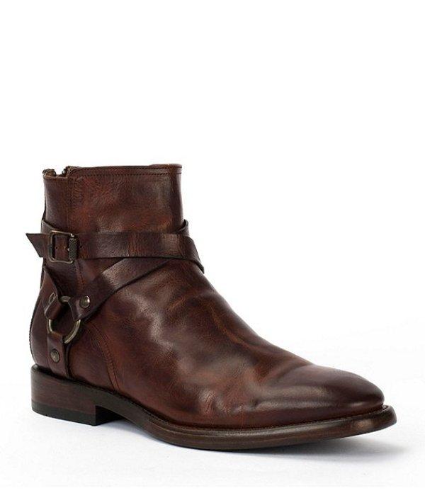 フライ メンズ ブーツ・レインブーツ シューズ Men's Weston Cross Strap Boot Dark Brown