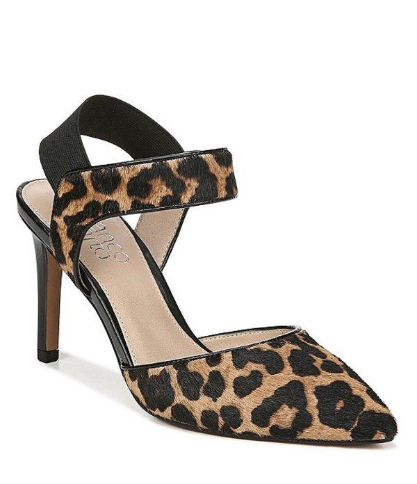 フランコサルト レディース ヒール シューズ Lima2 Leopard Print Calf Hair d'Orsay Pumps Sahara Leopard