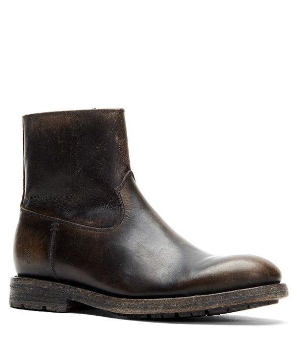 フライ メンズ ブーツ・レインブーツ シューズ Men's Bowery Leather Inside Zip Boot Black