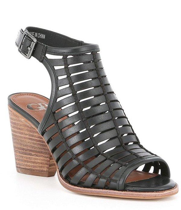 ジービー レディース サンダル シューズ Outta-Site Stacked Woven Block Heel Sandals Black