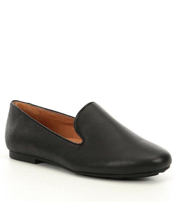 ジェントルソウルズ レディース スリッポン・ローファー シューズ Eugene Leather Loafers Black