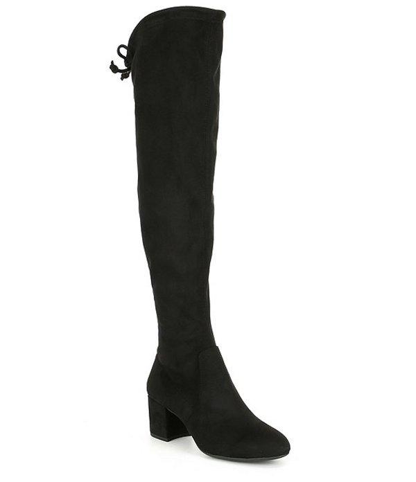 ジャンビニ レディース ブーツ・レインブーツ シューズ Trillia Block Heel Stretch Over The Knee Boots Black