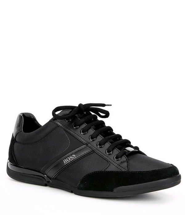 ヒューゴボス メンズ スニーカー シューズ BOSS Hugo Boss Men's Saturn Sneaker Black