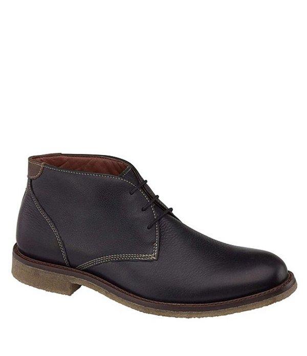 ジョンストンアンドマーフィー メンズ ブーツ・レインブーツ シューズ Men's Copeland Water Resistant Chukka Boots Black
