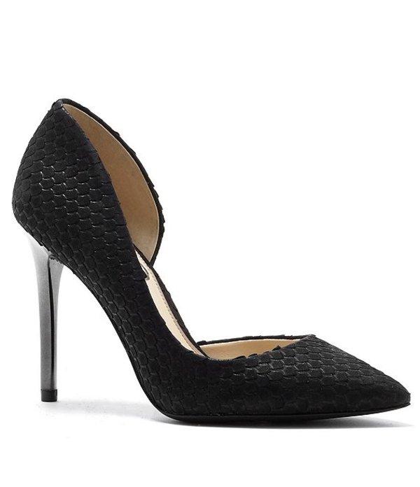 ジェシカシンプソン レディース ヒール シューズ Lucina Snake Embossed Iridescent Heel Pumps Black