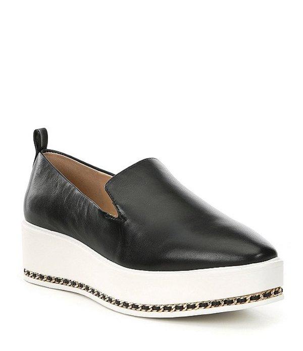 カール ラガーフェルド レディース スリッポン・ローファー シューズ Brea Leather Slip-On Platform Sneakers Black