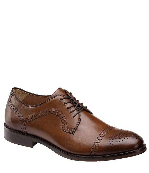 ジョンストンアンドマーフィー メンズ ドレスシューズ シューズ Men's Halford Cap Toe Oxford Tan