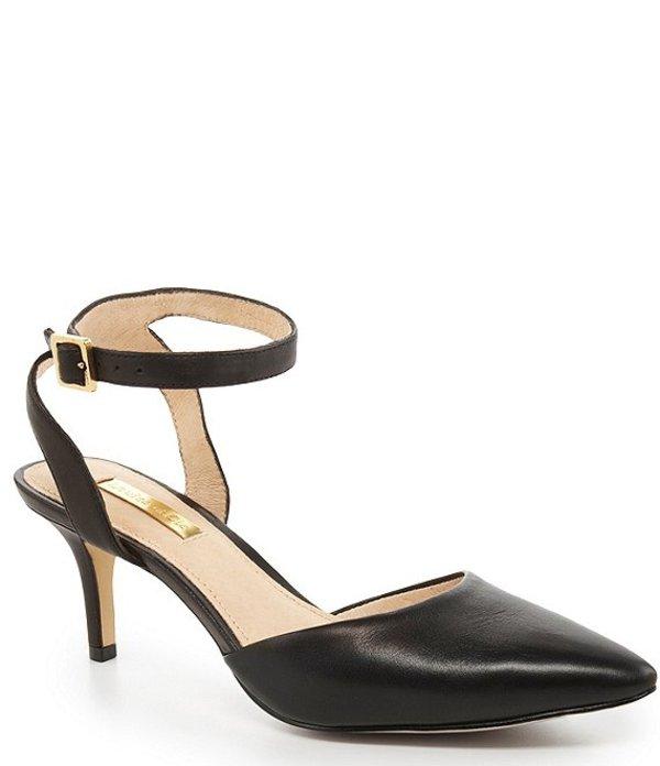 ルイスエシー レディース ヒール シューズ Esperance Ankle-Strap Pointed-Toe Pumps Black
