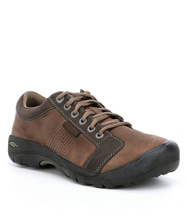 キーン メンズ ドレスシューズ シューズ Men's Austin Lace-Up Water Resistant Oxfords Chocolate Brown