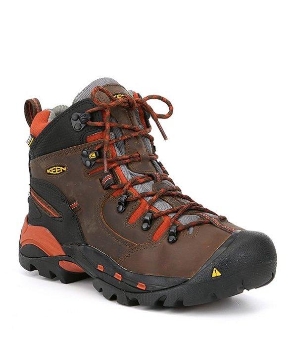 送料無料 サイズ交換無料 キーン メンズ シューズ 安い ブーツ 毎週更新 レインブーツ Cascade Brown Bombay Pittsburgh Waterproof Work Boots Utility Toe KEEN Soft Men's