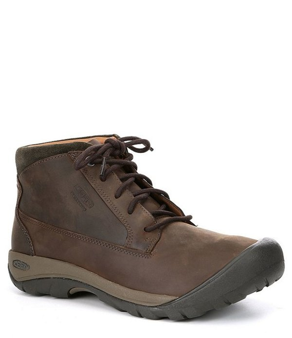 キーン メンズ ブーツ・レインブーツ シューズ Men's Austin Waterproof Boot Chocolate Brown/Black