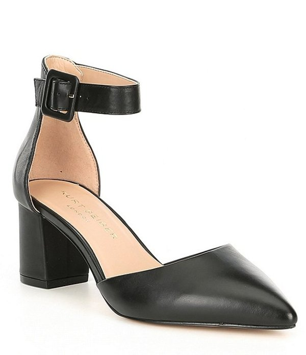 カートジェイガー レディース ヒール シューズ Burlington Leather Block Heel Pumps Black