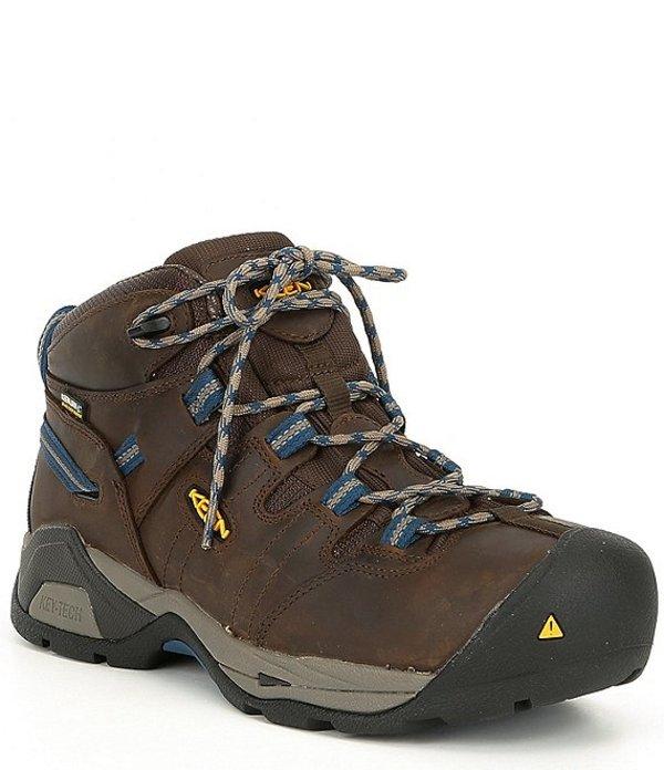 キーン メンズ ブーツ・レインブーツ シューズ Utility Men's Detroit Steel Toe Waterproof Work Boot Cascade Brown/Orion Blue