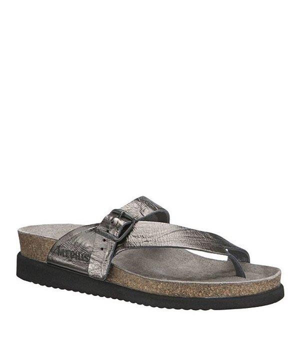 メフィスト レディース サンダル シューズ Helen Water-Repellent Nubuck Slip-On Sandals Grey