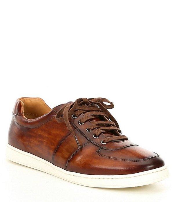 マグナーニ メンズ スニーカー シューズ Men's Franc Leather Lo Sneaker Cognac