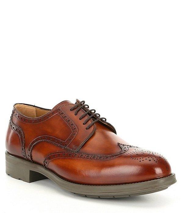 マグナーニ メンズ ドレスシューズ シューズ Men's Tormo Leather Wingtip Oxford Cognac