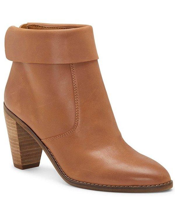 ラッキーブランド レディース ブーツ・レインブーツ シューズ Nycott Leather High Heel Block Heel Booties Latte