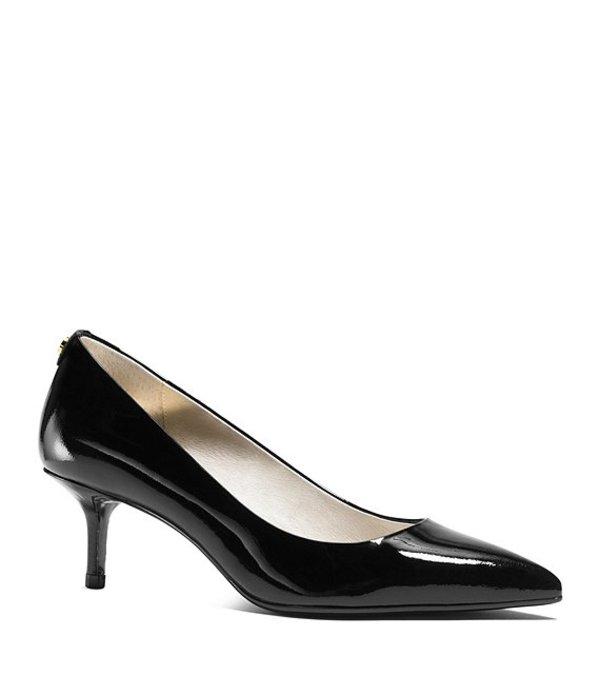 マイケルコース レディース ヒール シューズ MK Flex Patent Leather Pointed-Toe Kitten Pumps Black