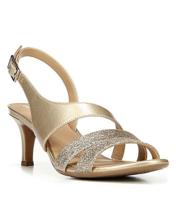 ナチュライザー レディース サンダル シューズ Taimi Glitter & Metallic Dress Sandals Gold