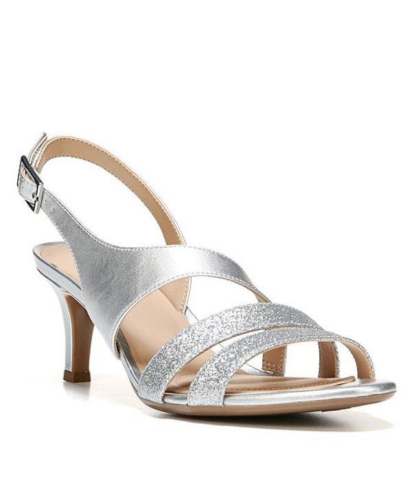 ナチュライザー レディース サンダル シューズ Taimi Glitter & Metallic Dress Sandals Silver