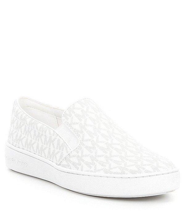 マイケルコース レディース スリッポン・ローファー シューズ Keaton Slip-On Sneakers Optic White