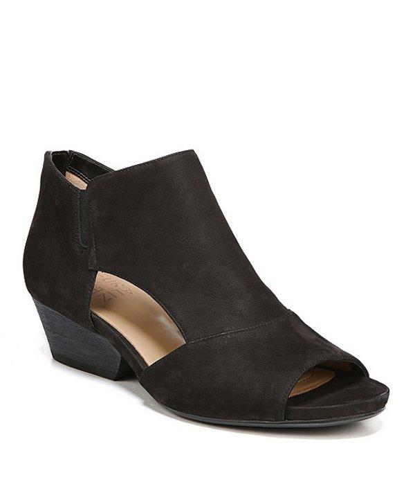ナチュライザー レディース ブーツ・レインブーツ シューズ Greyson Peep-Toe Block Heel Booties Black