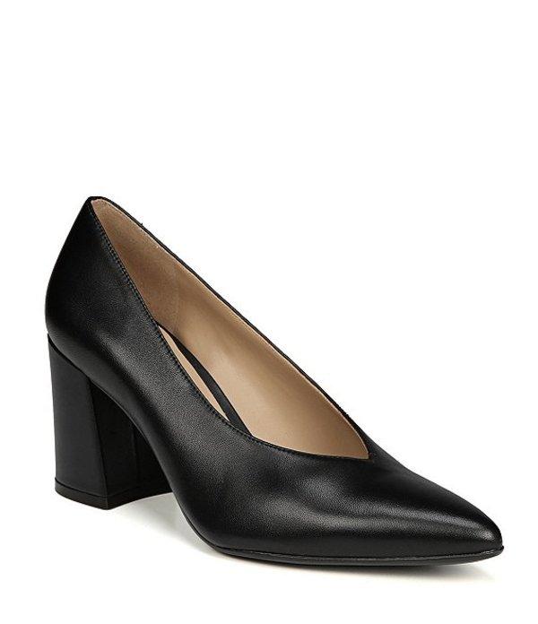 ナチュライザー レディース ヒール シューズ Hope Block Heel Pumps Black Leather