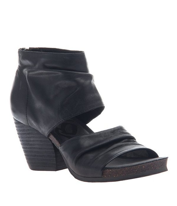 オーティービーティー レディース サンダル シューズ Patchouli Leather Sandals Black