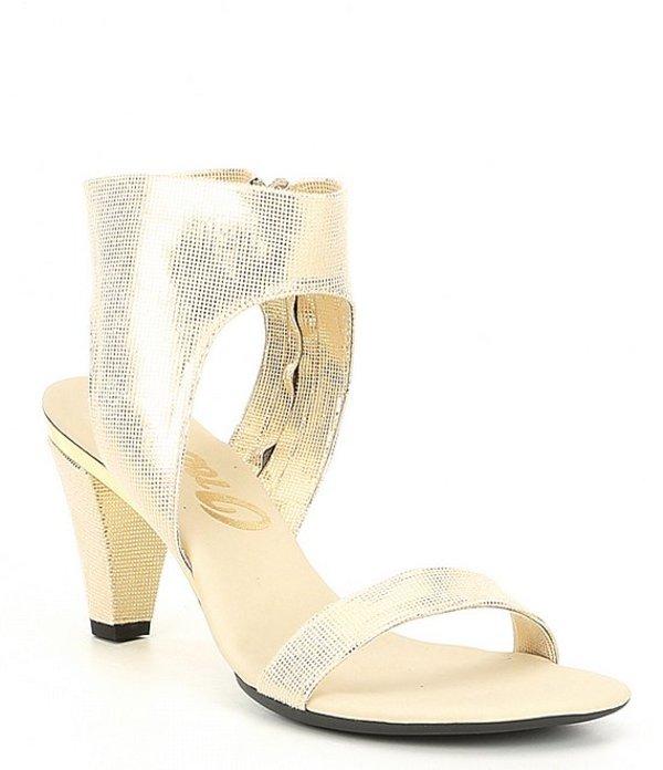オネックス レディース サンダル シューズ Showgirl 2 Shimmer Stretch Fabric Block Heel Sandals Platinum Shimmer
