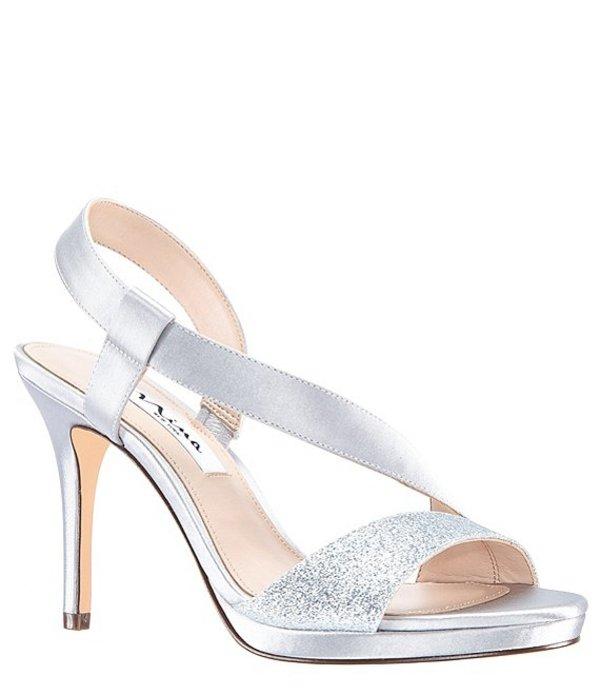 ニナ レディース サンダル シューズ Robina Satin and Glitter Dress Sandals Silver