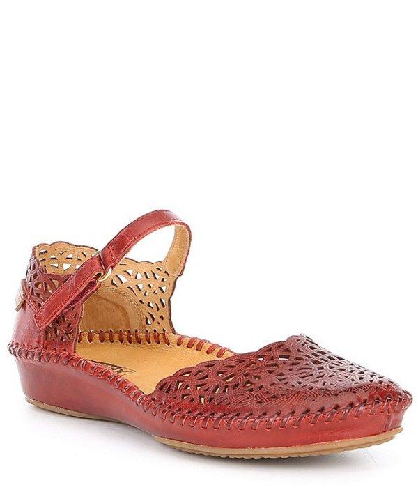 ピコリーノス レディース パンプス シューズ P Vallarta Leather MJ Mary Janes Red
