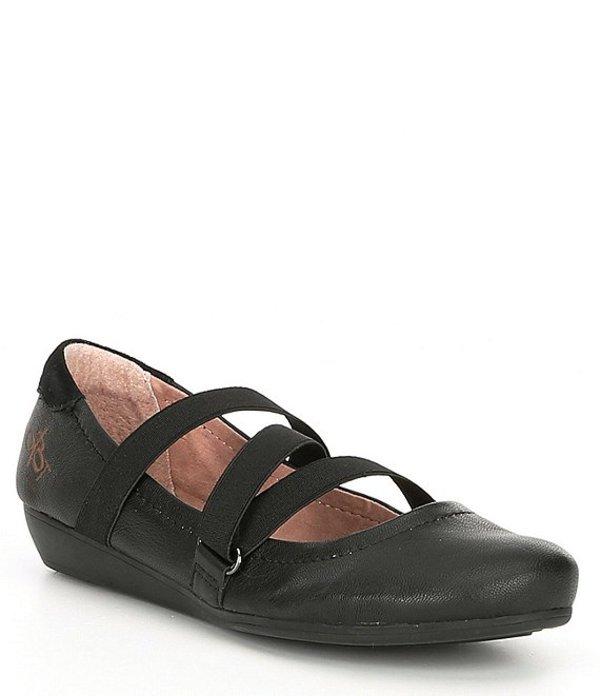 オーティービーティー レディース パンプス シューズ Forever Anora Strappy Ballet Flats Black