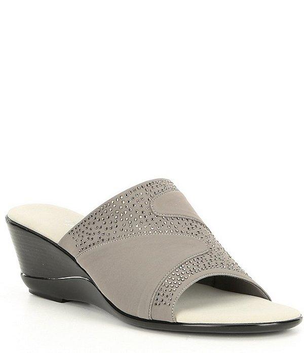 オネックス レディース サンダル シューズ Shadow Embellished Wedge Slides Grey