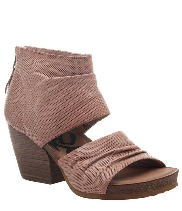 オーティービーティー レディース サンダル シューズ Patchouli Perforated Leather Block Heel Sandals Mauve