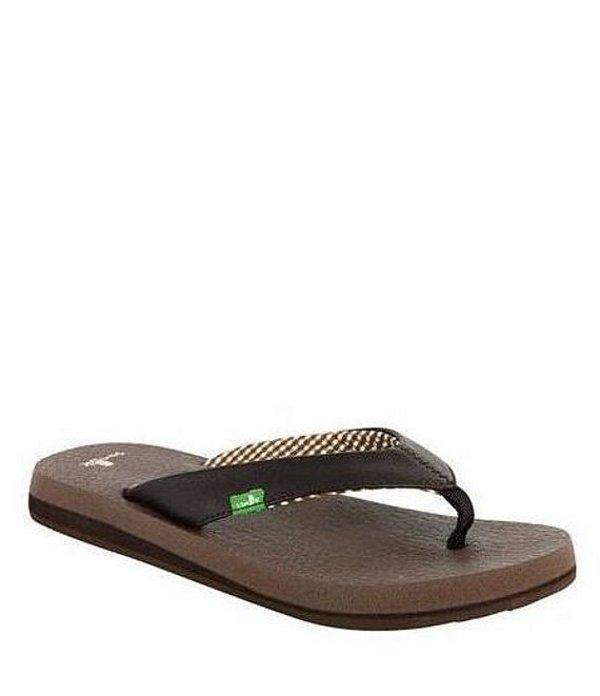 サヌーク レディース サンダル シューズ Yoga Mat Flip Flop Sandals Brown