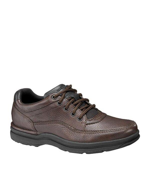 ロックポート メンズ ドレスシューズ シューズ World Tour Classic Men's Casual Oxfords Brown Tumbled Leather