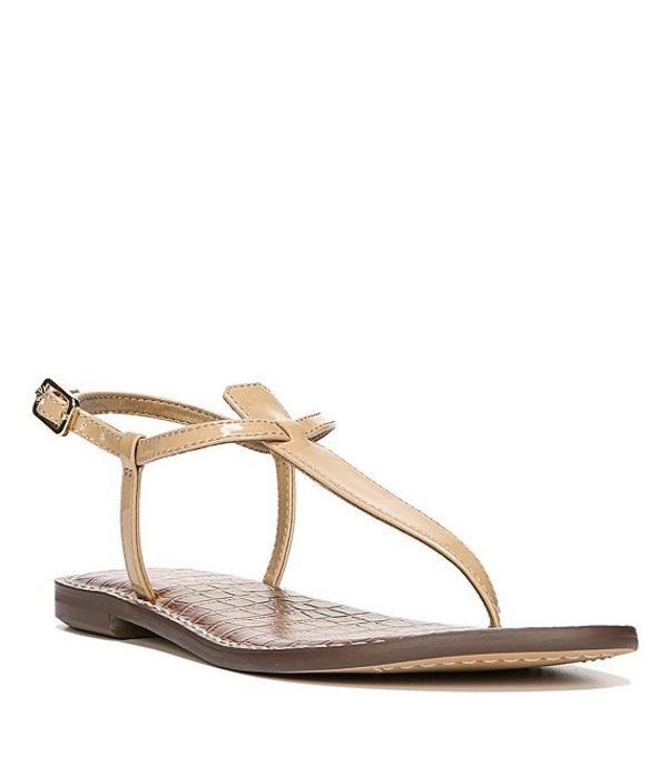 サムエデルマン レディース サンダル シューズ Gigi T-Strap Patent Leather Sandals Almond