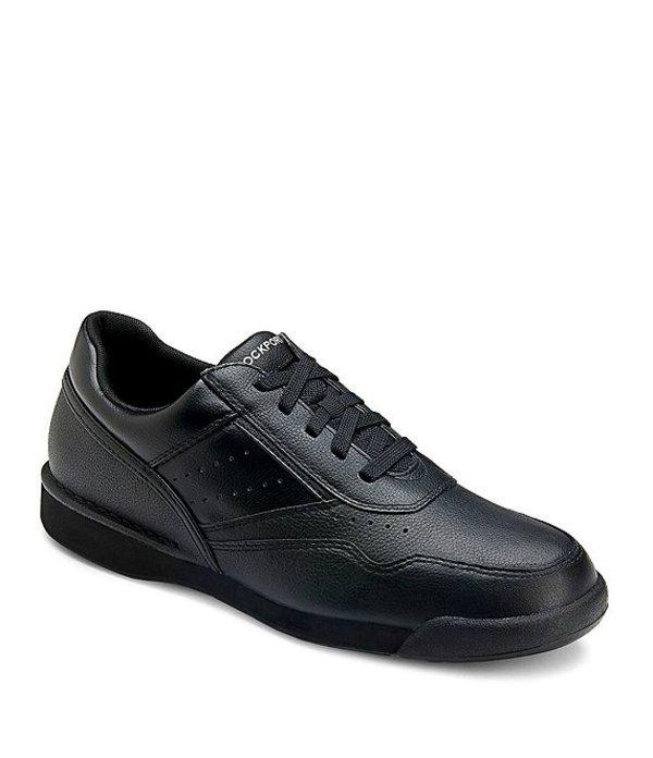 ロックポート メンズ スニーカー シューズ Men's Prowalker Leather Walking Shoes Black