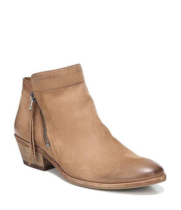 サムエデルマン レディース ブーツ・レインブーツ シューズ Packer Leather Block Heel Booties Saddle