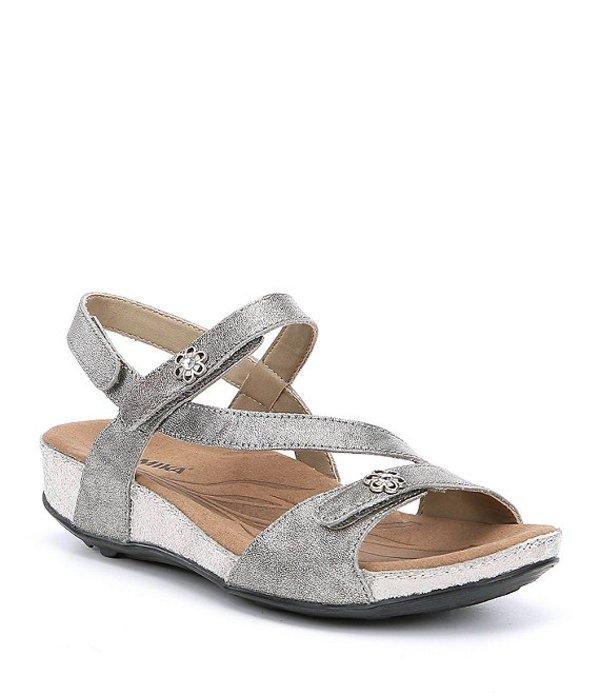 ロミカ レディース サンダル シューズ Fidschi 54 Leather Strappy Sandals Platin