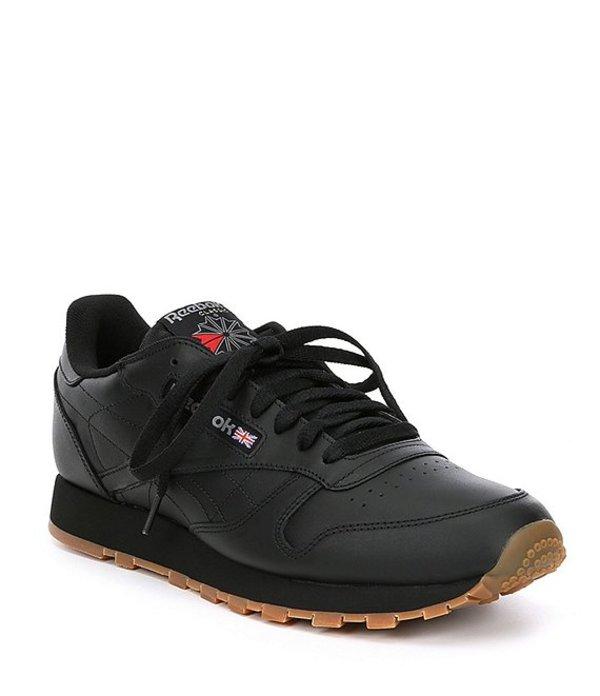 リーボック メンズ スニーカー シューズ Men's Classic Leather Sneaker Black/Gum