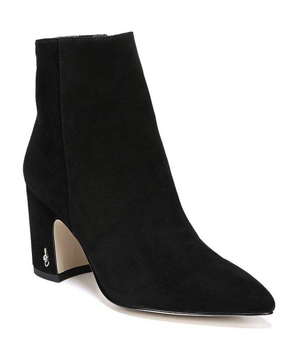 【即日発送】 Black:ReVida Block ブーツ・レインブーツ Suede Hilty Booties レディース 店 Heels シューズ サムエデルマン-レディース靴