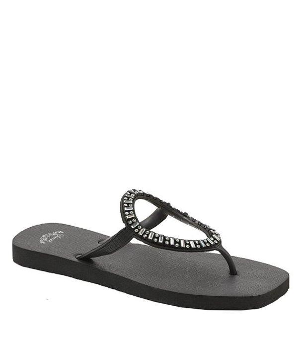 サヌーク レディース サンダル シューズ Ibiza Monaco Jeweled Sandals Black