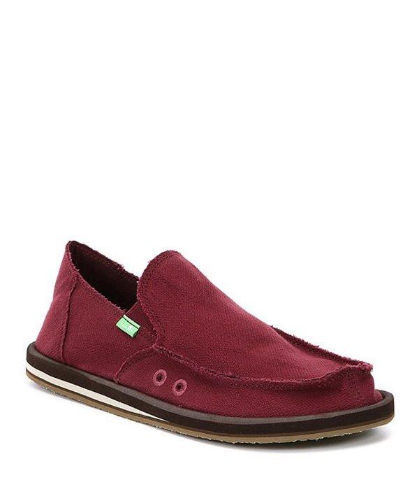 サヌーク メンズ スニーカー シューズ Hemp Slip-On Shoes Burgundy